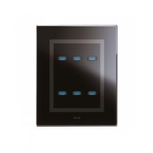 czarny włącznik światła dotykowy AVE