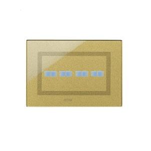 Ramka dotykowa złota szklana na cztery przyciski