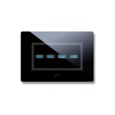 nowoczesne włączniki światła czarne szkło