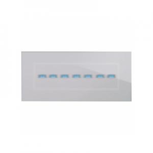Ramka dotykowa szara szklana na siedem przycisków