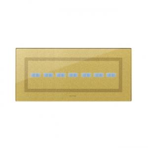 Ramka dotykowa złota szklana na siedem przycisków
