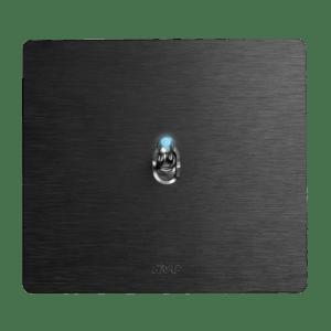 włącznik hebelkowy czarny retro