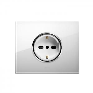 inteligentne gniazdko elektryczne białe