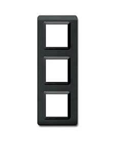 Ramka czarna plastikowa x3