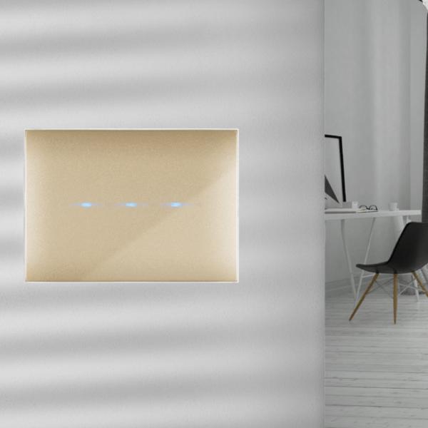designerski włącznik światła