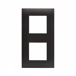 Ramka czarny mat plastikowa x2